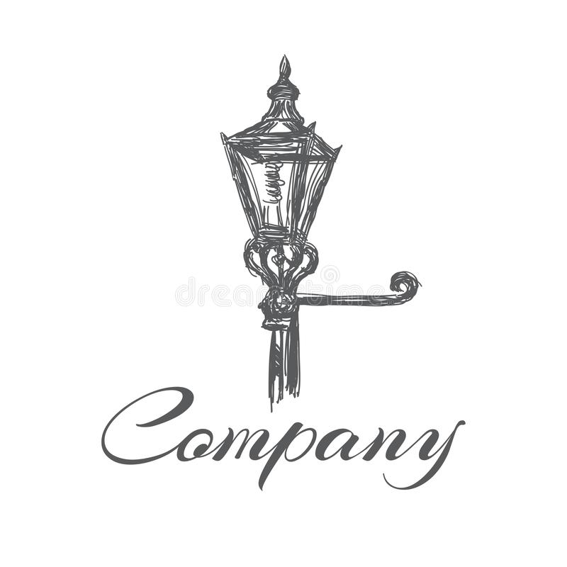 Free Old Street Lamp Logo. Vector Illustration. Stock Image - 141358561