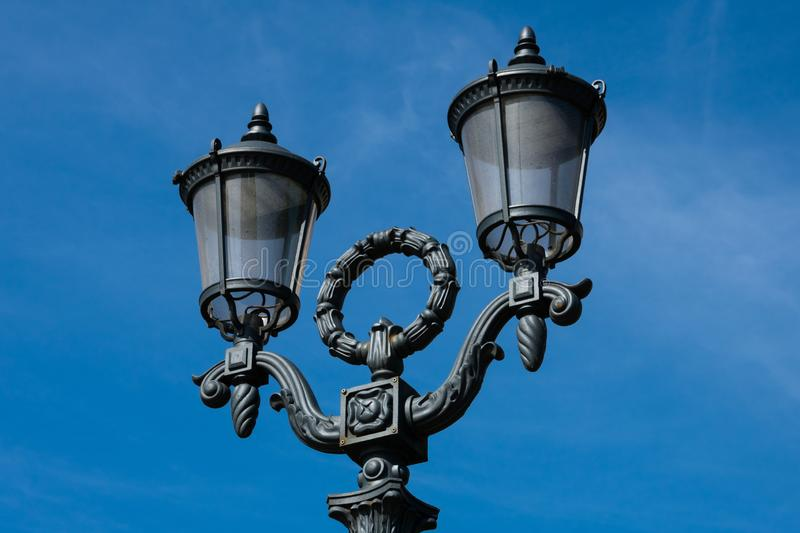 Old street lamp at Pushkin Square stock photo