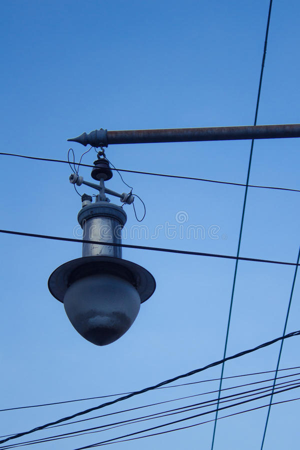 Old street lamp stock image. Image of street, wire, vintage - 30727241