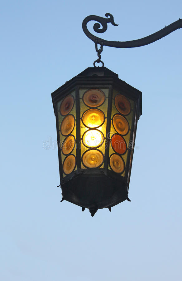 Download Old street lantern stock photo. Image of bulb, lamppost - 18062336