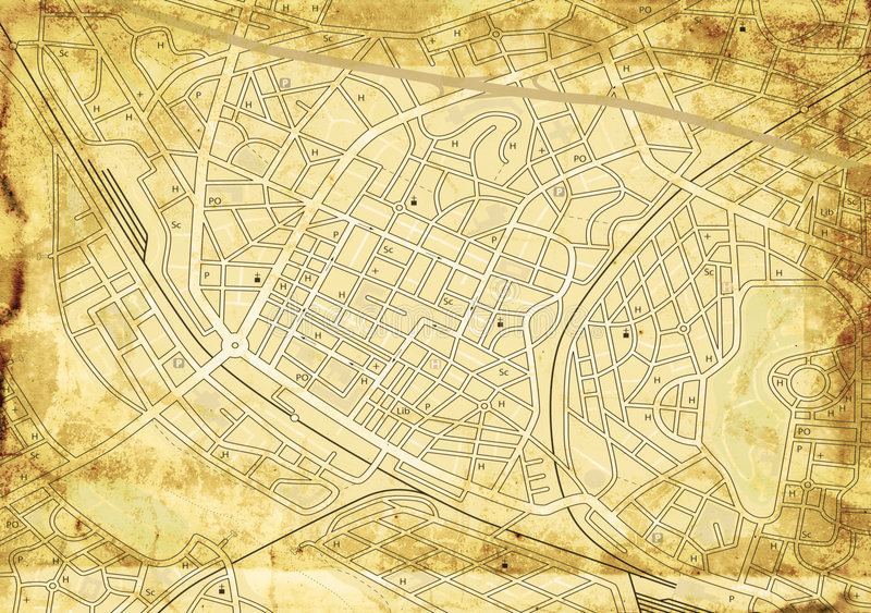 Download Old Street Map Royalty Free Stock Image - Image: 6459996