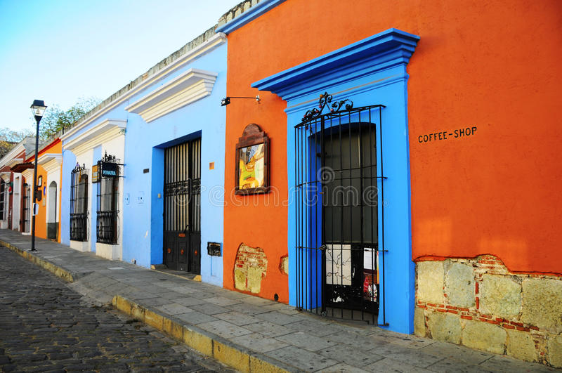 Old Street in Oaxaca royalty free stock photography