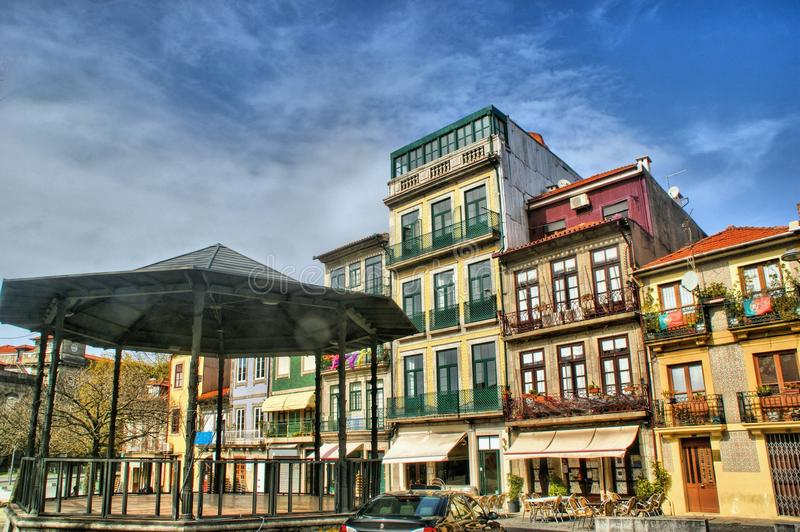 Old street in Oporto stock photos