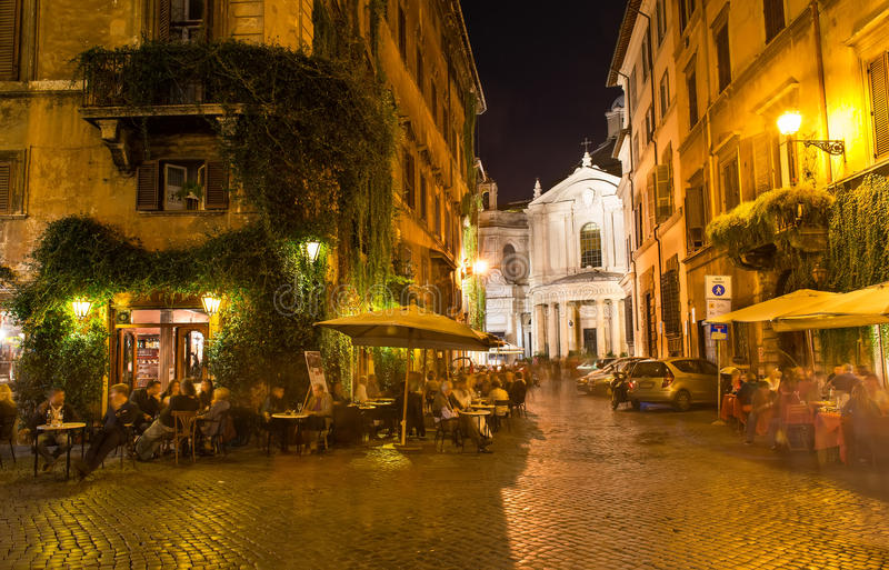 Old street in Rome stock photos