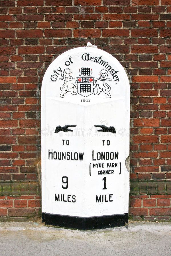 Old street sign stock photography