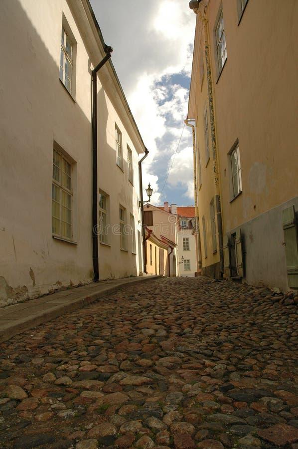 Old street in Tallin stock photos