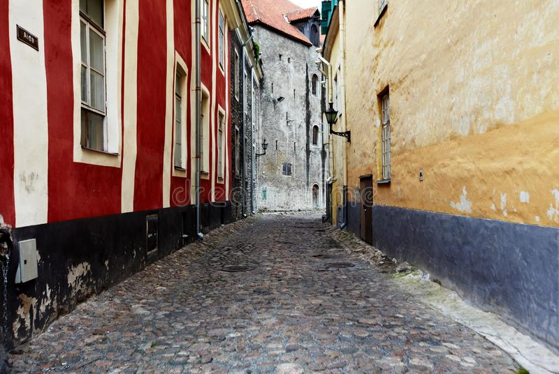 Old Street of Tallinn Estonia. Europe royalty free stock photos