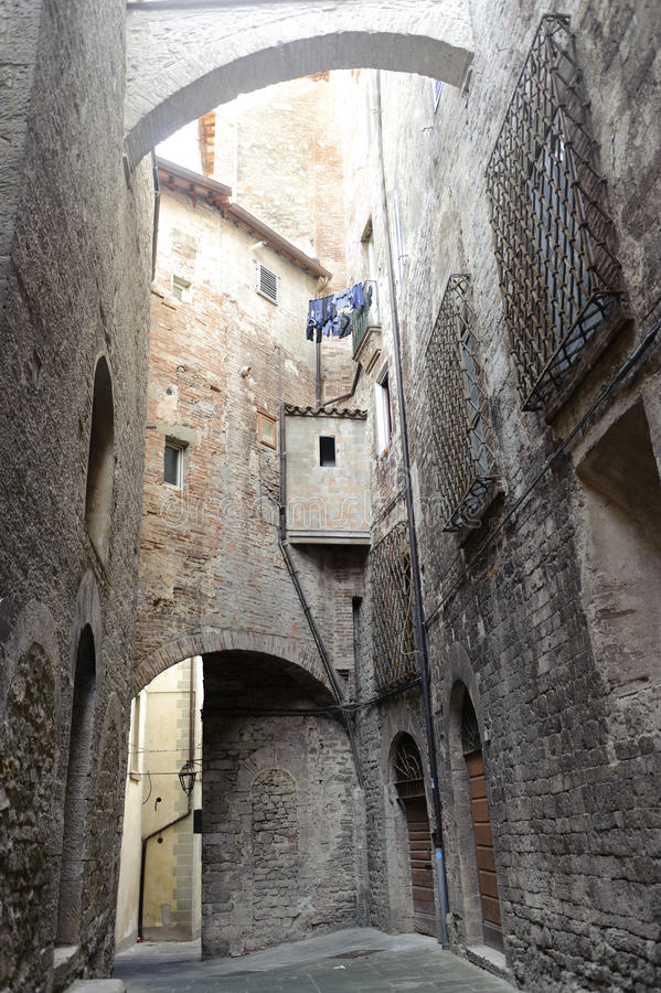 Download Old street of Todi stock photo. Image of umbria, window - 23228248