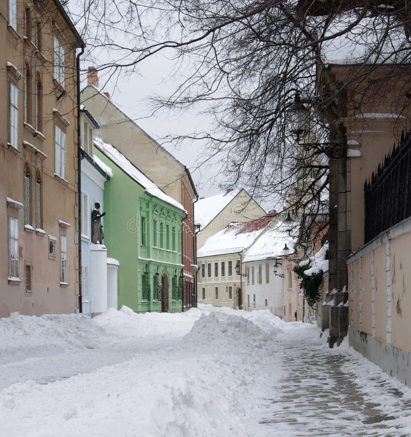 Download Old Street In Town Bratislava Stock Photo - Image: 28830940