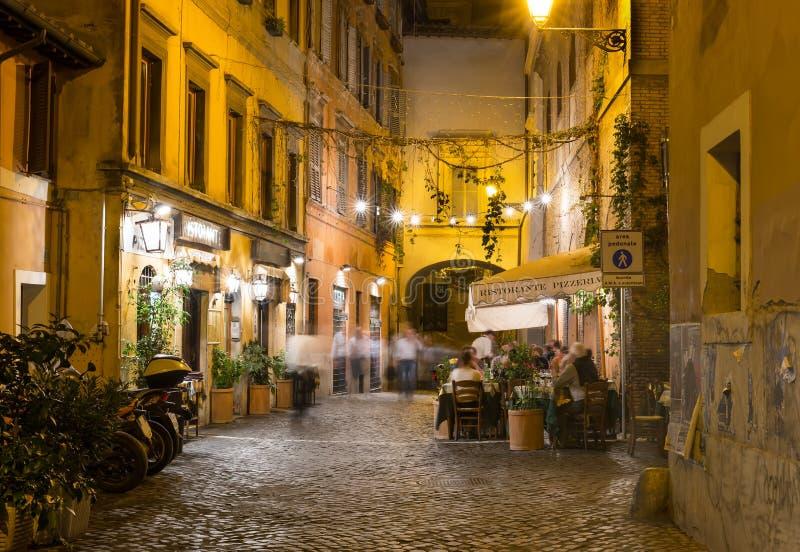 Old street in Trastevere in Rome royalty free stock image