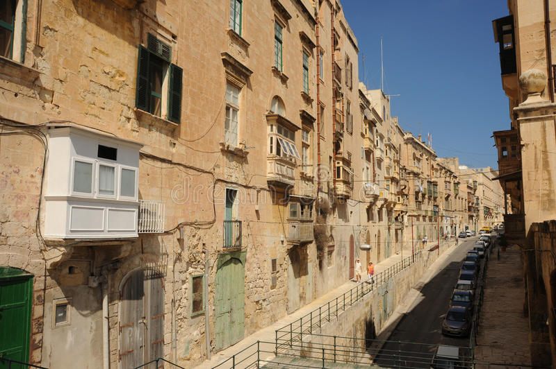 Old Street, Valetta, Malta. Editorial Photo