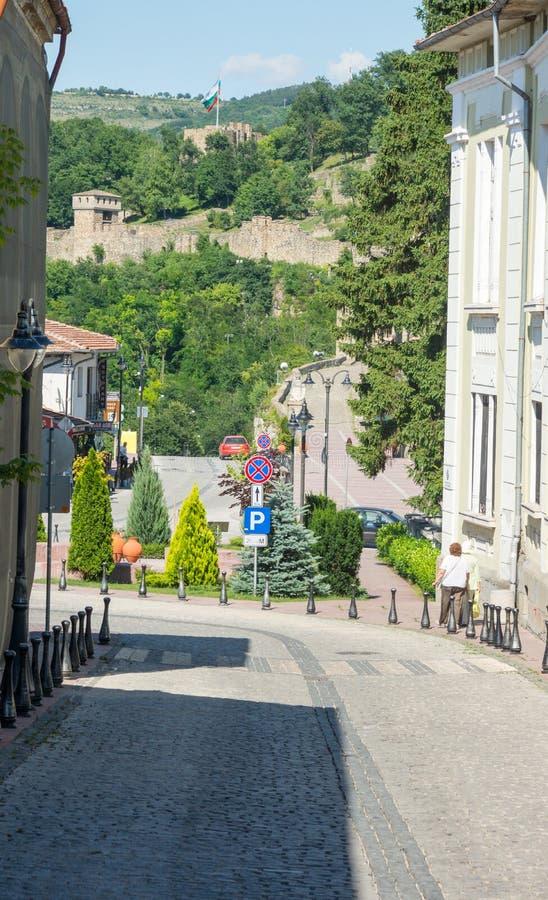 Old street of Veliko Tarnovo royalty free stock image