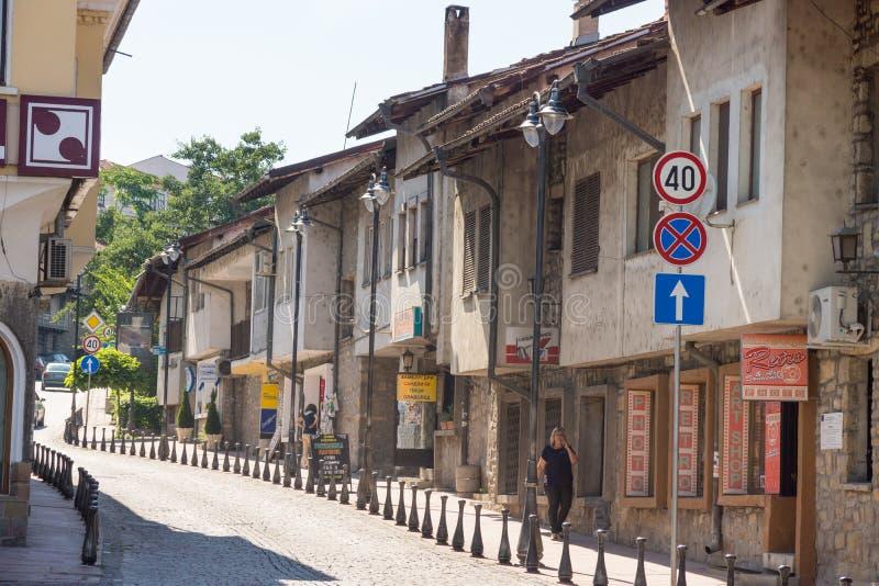 Old street in Veliko Tarnovo royalty free stock images