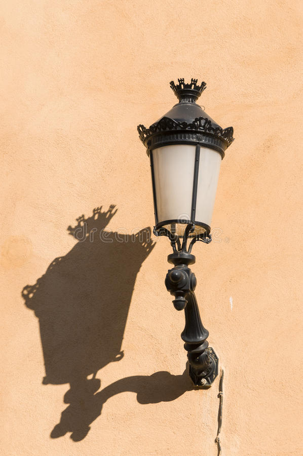 Download Old streetlamp with shadow stock photo. Image of corsican - 38760402
