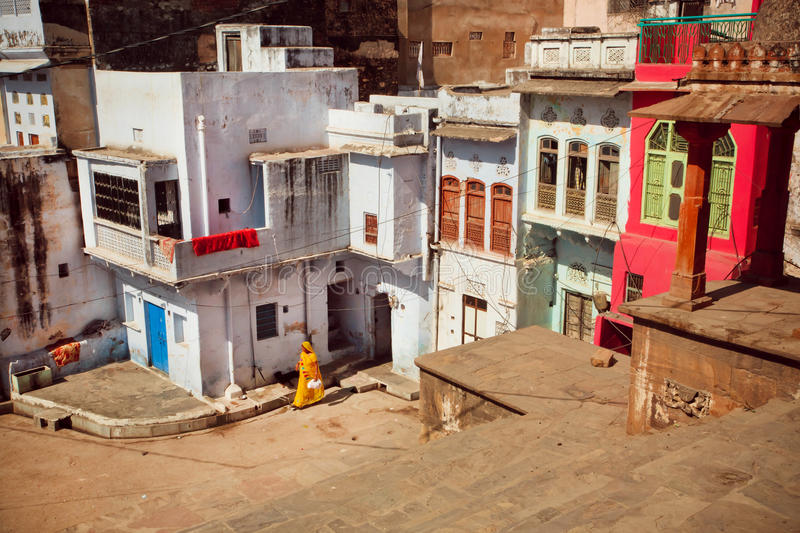 Old streets of town in India royalty free stock photo