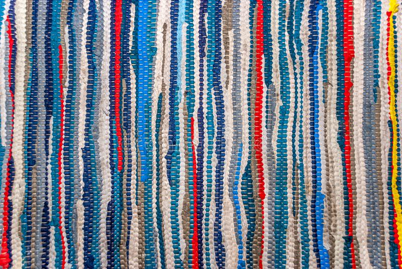 Old Striped Colorful Rug royalty free stock photo