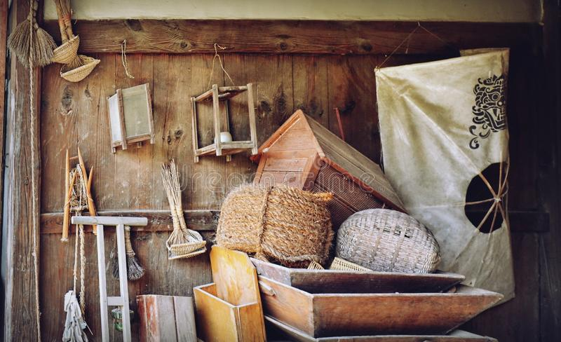 Old stuff in the barn. South Korea royalty free stock photos