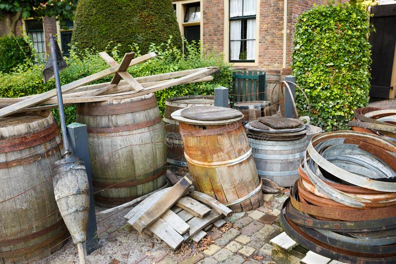 Old stuff. In the traditional Dutch village royalty free stock images