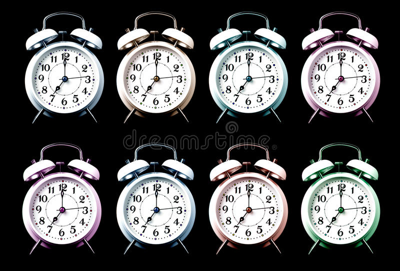Download Old style alarm clocks stock image. Image of office, abstract - 26900293
