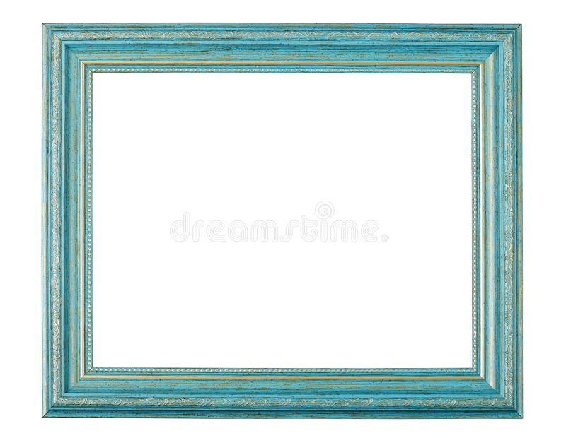 Old style antique wooden craft photo frame isolated with clipping path stock photo