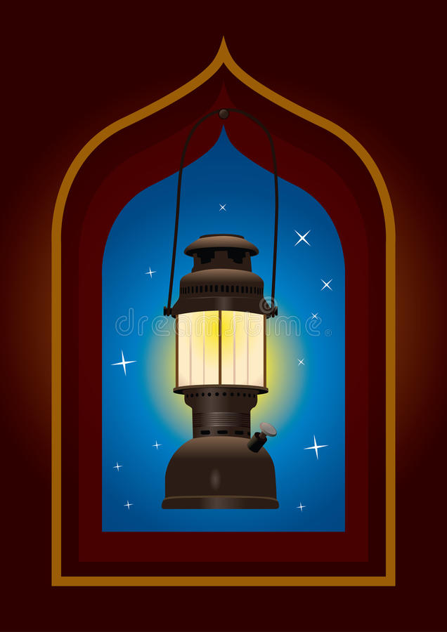 Old style arabic lantern royalty free illustration