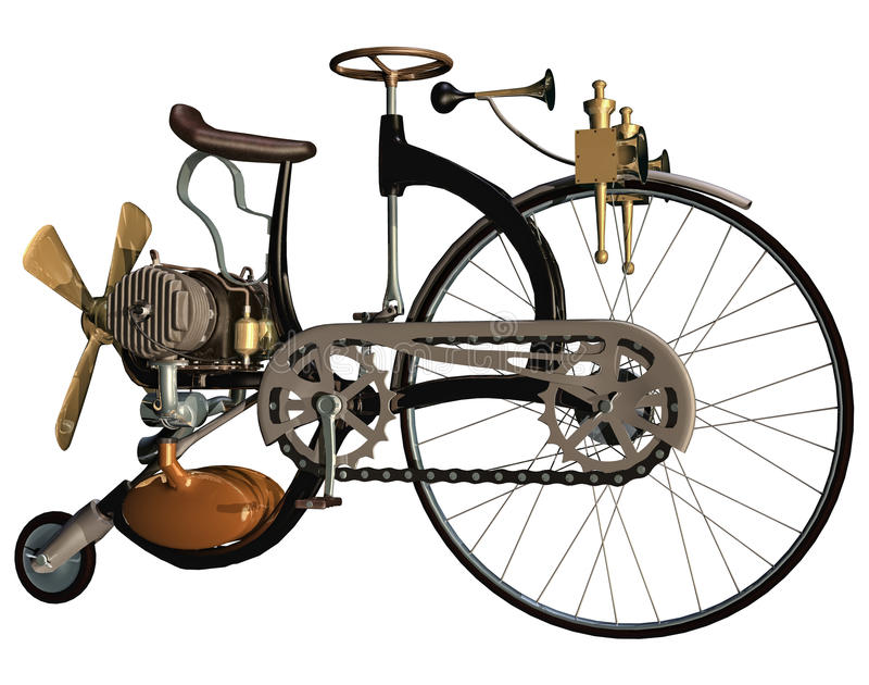 Old style bicycle stock illustration