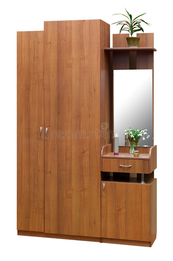 Download Old style brown wardrobe stock photo. Image of cabinet - 24323458