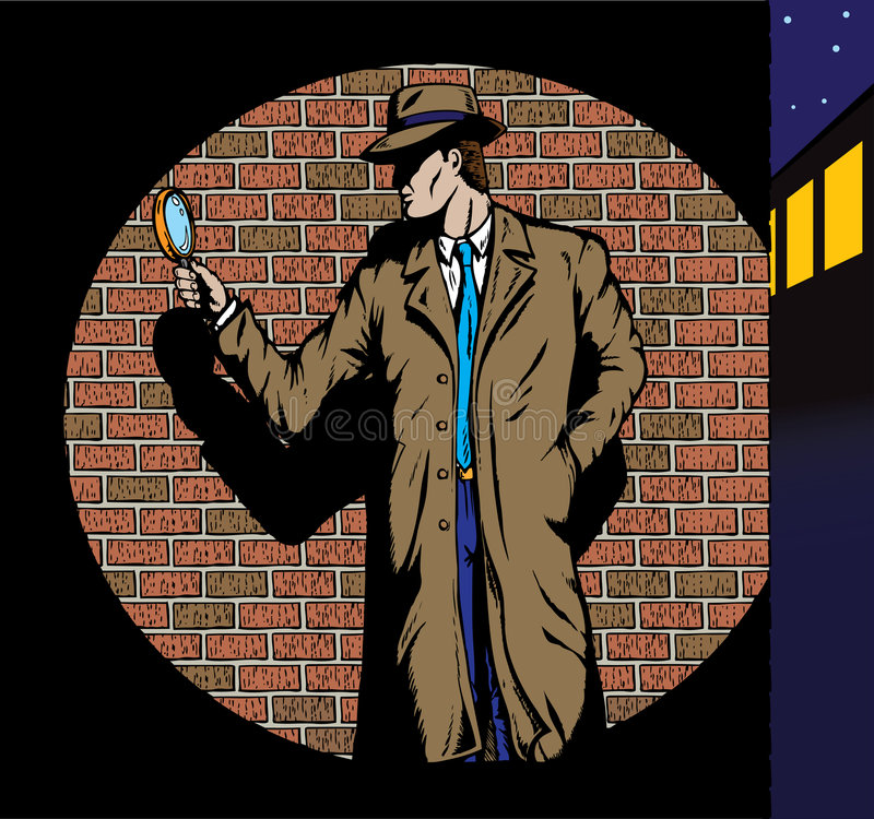 Old style Detective, such as from the fifties. royalty free illustration