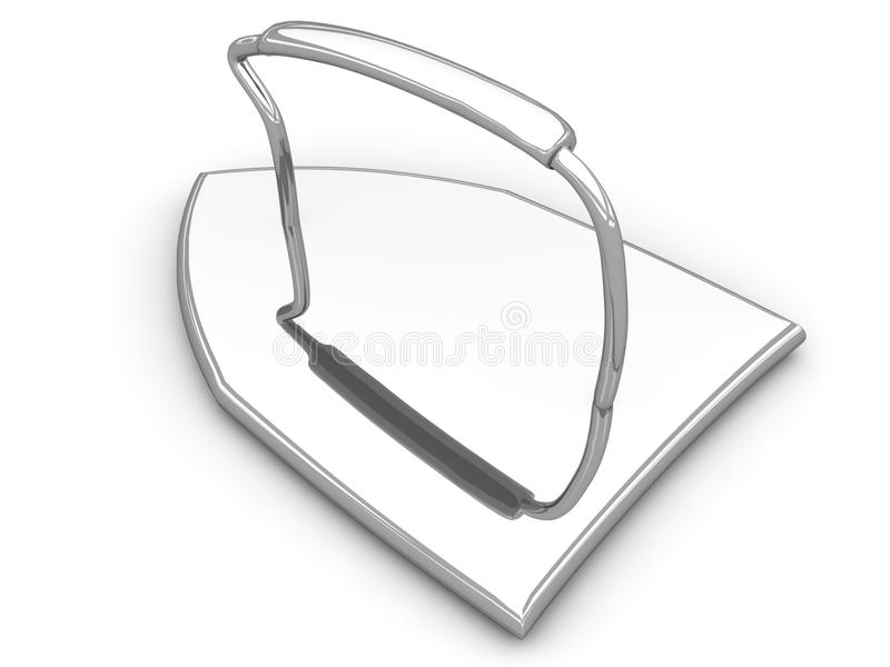 Download Old Style Flat Iron stock illustration. Image of iron - 26060401