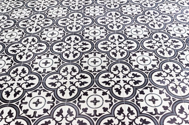 Old style floor tiles background royalty free stock photography