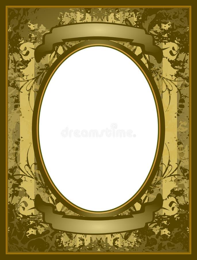 Old style frame royalty free illustration