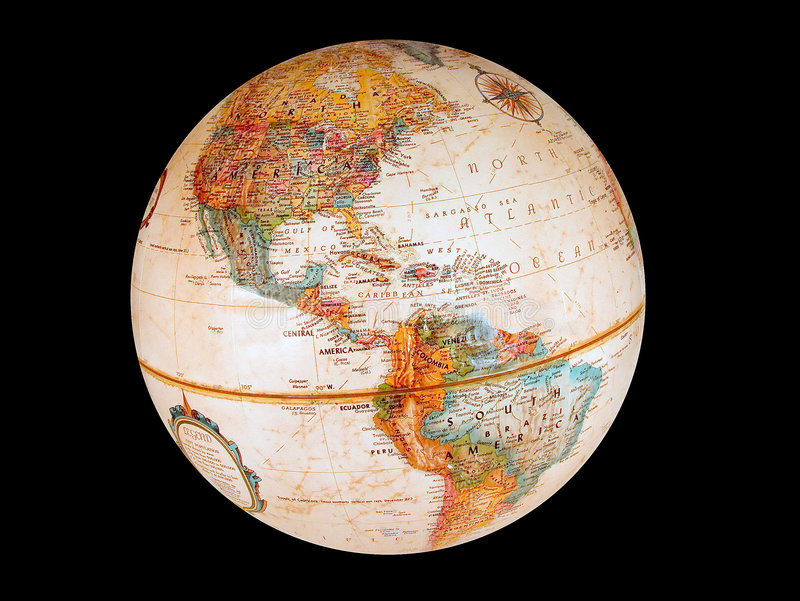 Download Old Style Globe stock image. Image of international, over - 89491