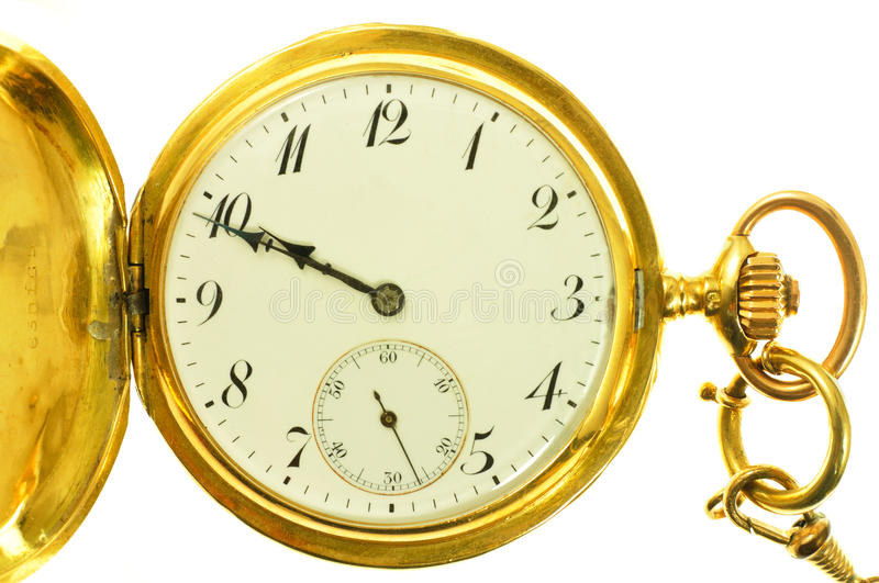 Old style gold pocket watch royalty free stock photography