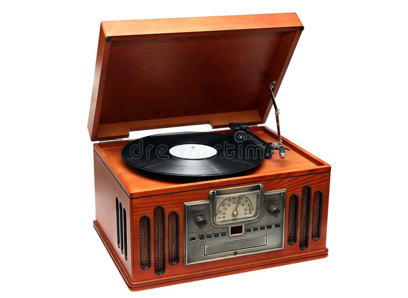 Old style gramophone royalty free stock photography