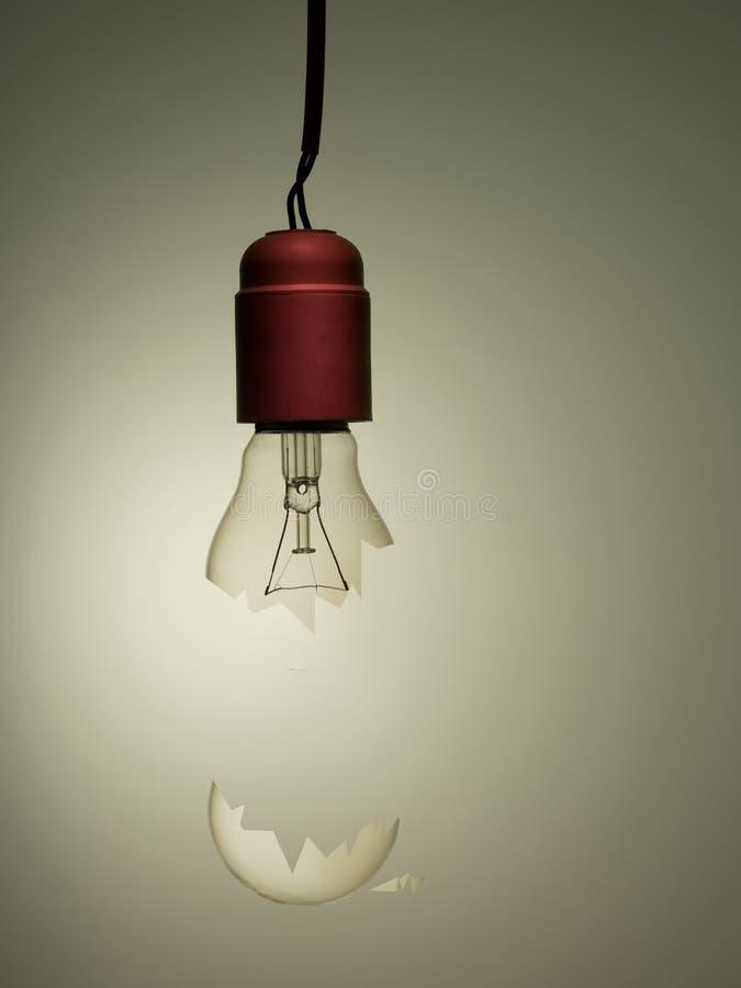 Old style incandescent broken light bulb, hanging. Concept, metaphor. Old style incandescent broken light bulb, hanging. Concept, business metaphor vector illustration