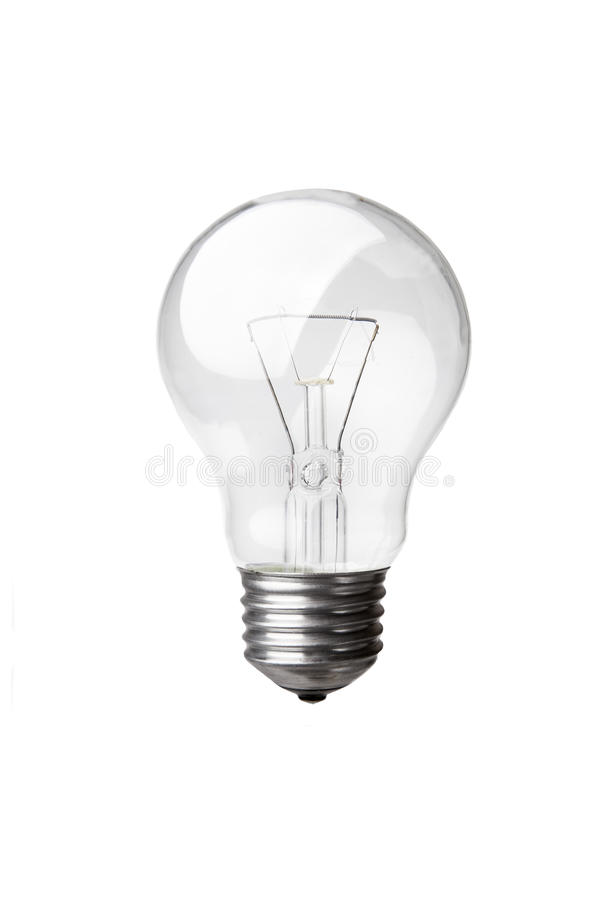 Old style light bulb. Isolated on white royalty free stock images
