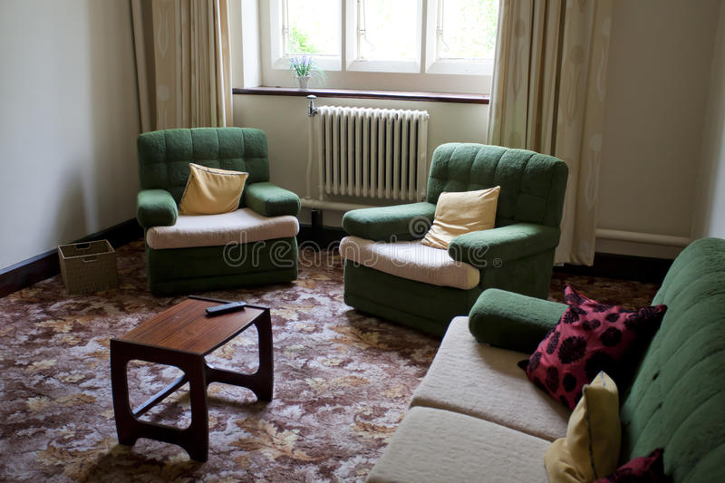 Old style living room royalty free stock photography