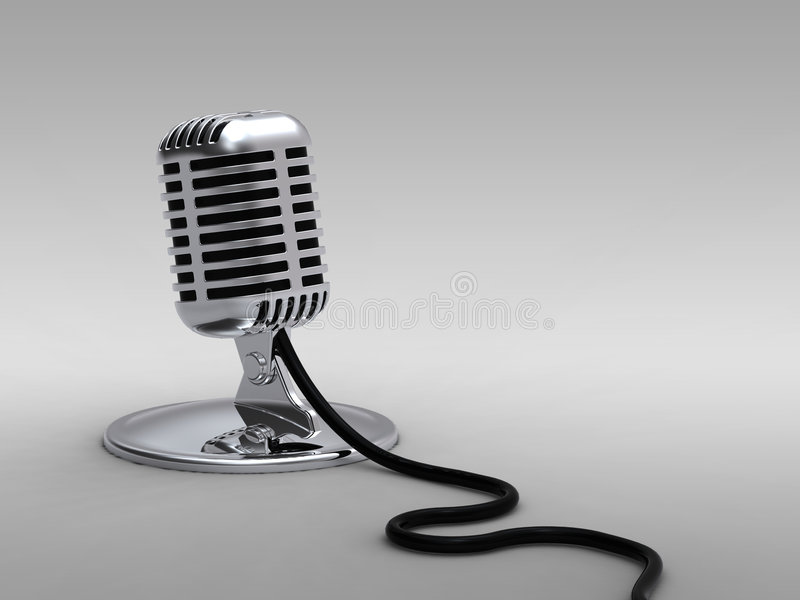 Old Style Microphone stock photos