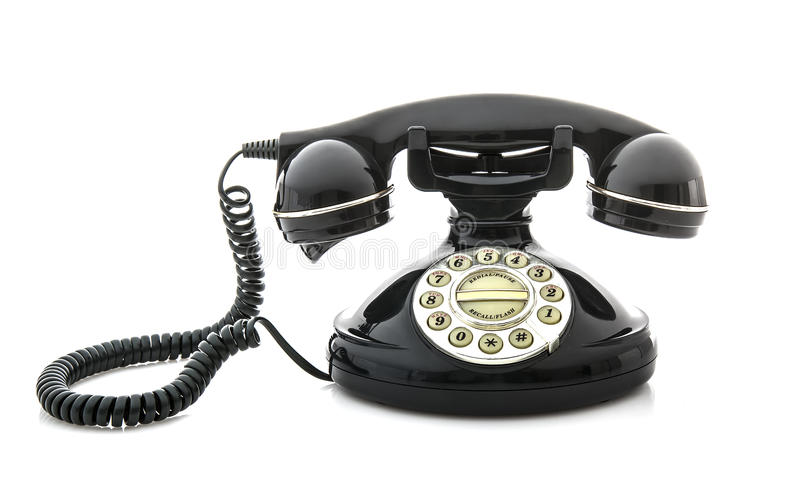 Old Style phone royalty free stock photography