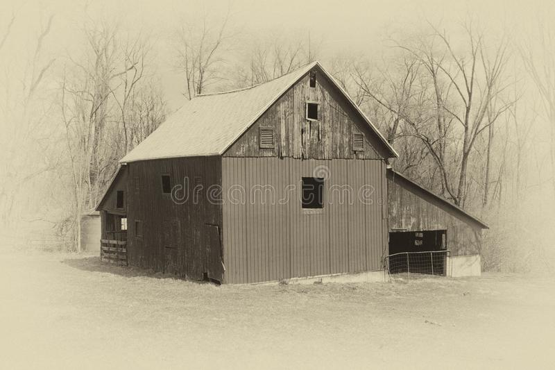 Old Style Photo of a Barn stock photography