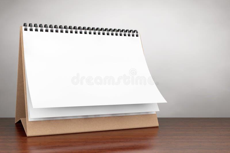 Old Style Photo. Blank paper desk spiral calendar stock photo