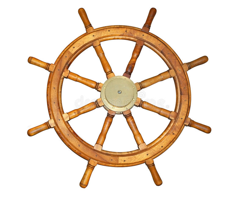 Old Style Ship Wheel royalty free stock photos