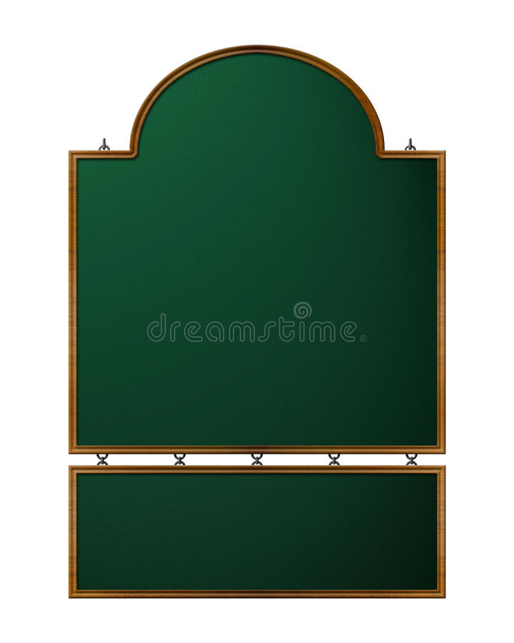 Old-Styled Shop Sign royalty free illustration