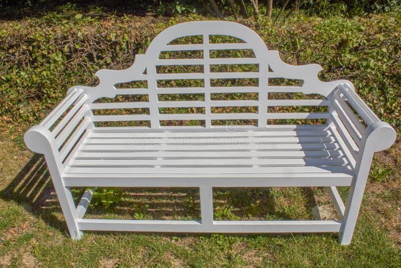 Old stylish park bench royalty free stock photography