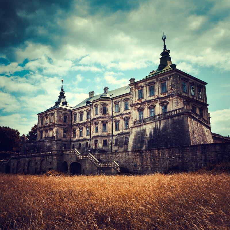 Old stylized Pidhirtsi Castle royalty free stock photo
