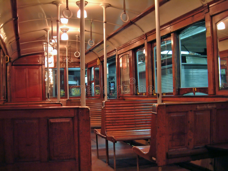 Old subway car. (buenos aires royalty free stock images