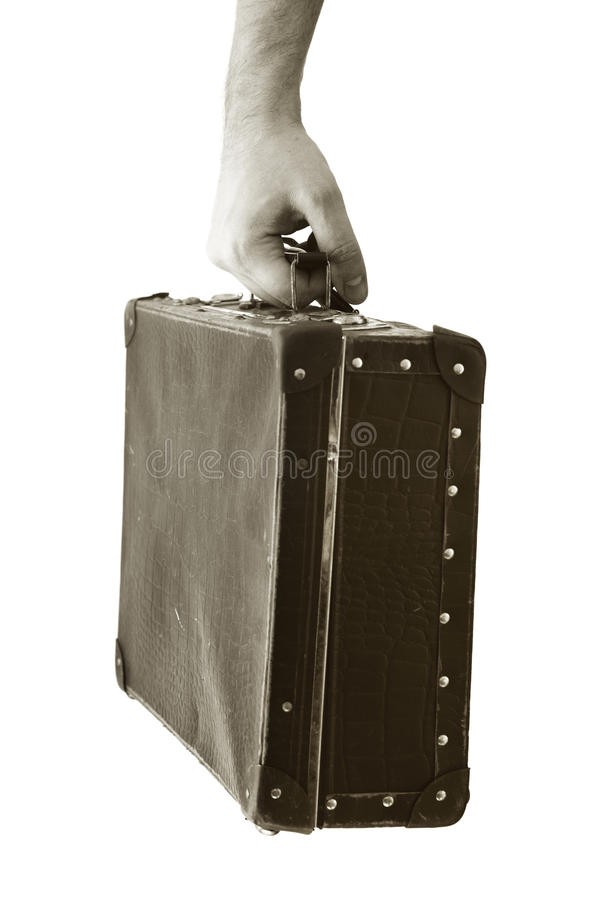 Download Old suitcase stock image. Image of luggage, hangs, weathered - 9773779