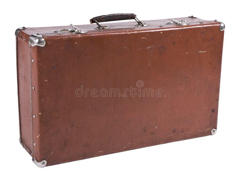 Old Suitcase Isolated On White Royalty Free Stock Photo