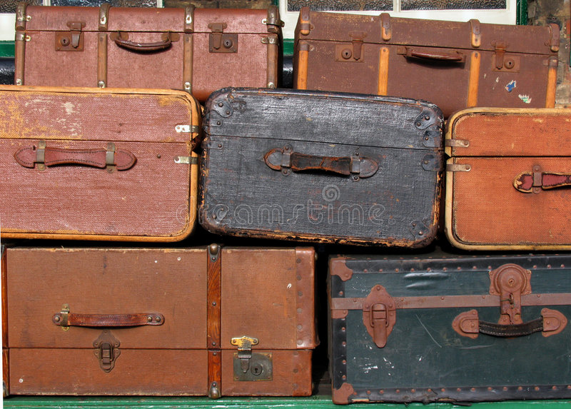 Download Old suitcases stock image. Image of leaving, baggage, handle - 4384117
