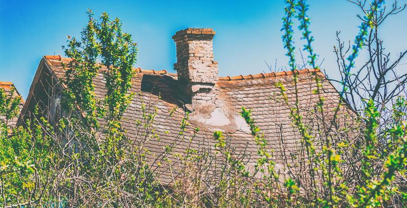 Old sunk roof. The old sunk roof of old finnish house royalty free stock photo